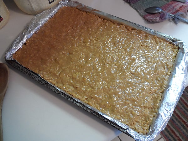 No-Bake Peanut Butter Pudding Bars at AmandasCookin.com @amandaformaro