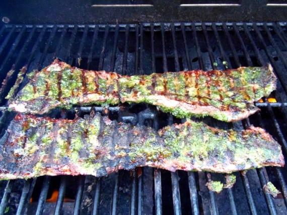 skirt steak with cilantro pesto - 4