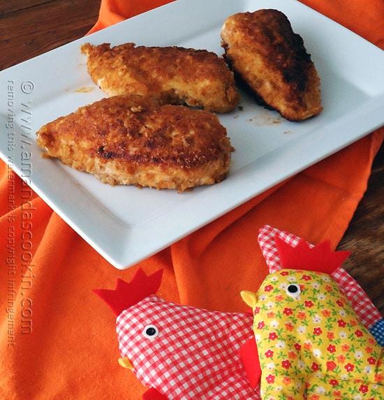 Oven Fried Chicken Breasts Amanda S Cookin