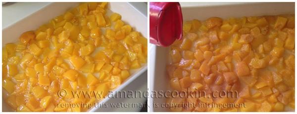 3 Ingredient French Vanilla Peach Cobbler @amandaformaro Amanda's Cookin'