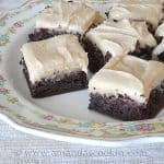 One-Bowl Fudge Brownies with Peanut Butter Frosting
