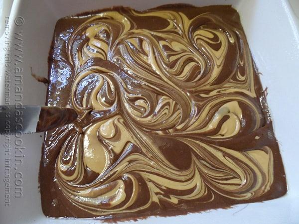 Reese's Peanut Butter Swirl Cake @amandaformaro Amanda's Cookin'