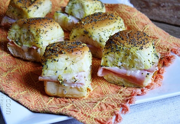 Ham and Cheese Sliders @amandaformaro Amanda's Cookin'