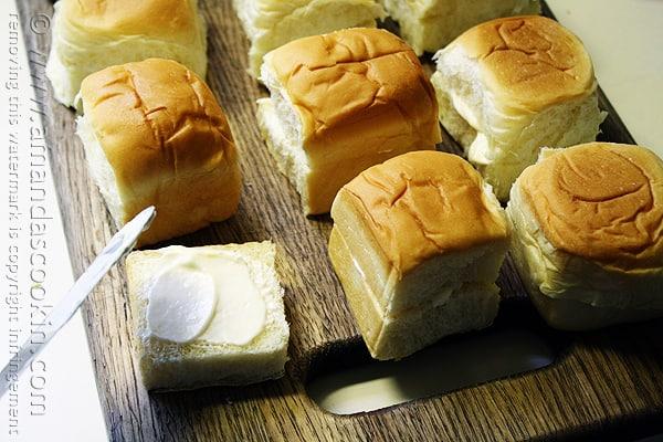 Ham and Cheese Sliders @amandaformaro Amanda's Cookin'