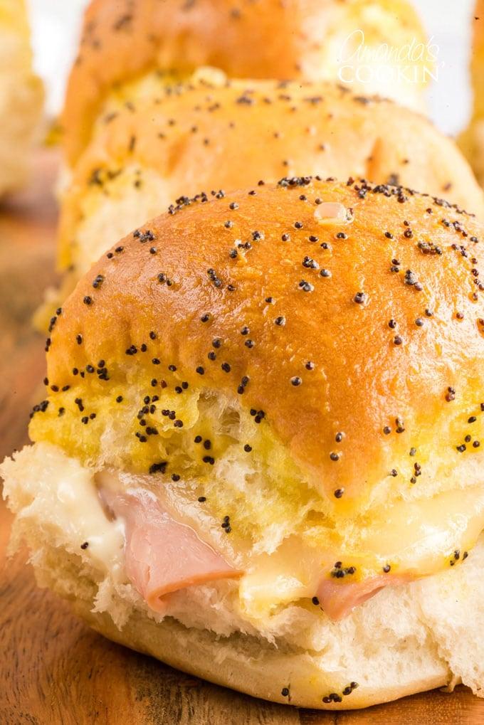 ham and cheese slider sandwich