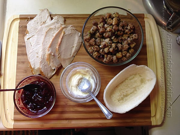 Turkey, Cranberry & Stuffing Sandwich @amandaformaro Amanda's Cookin'