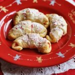 White Chocolate Candy Cane Crescents @amandaformaro Amanda's Cookin'