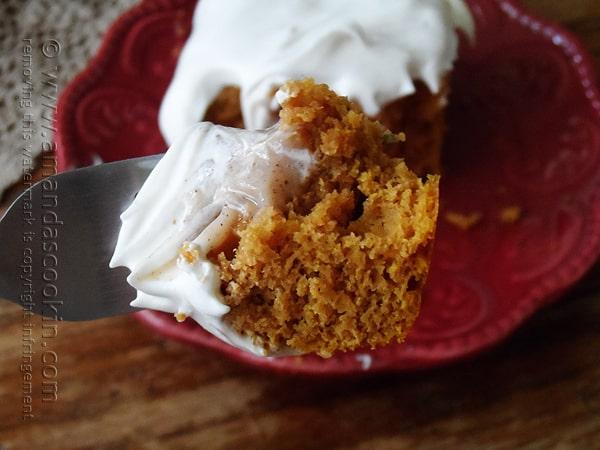 Pumpkin Pudding Poke Cake @amandaformaro Amanda's Cookin'