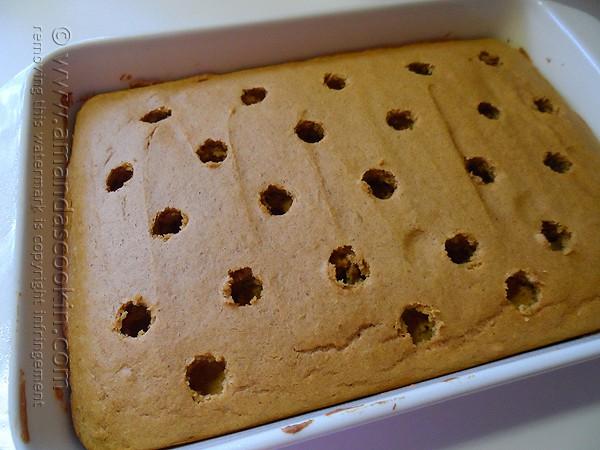 Hole Cake Pudding Pumpkin Pudding Poke Cake
