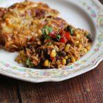 Spanish Rice with Black Beans & Corn @amandaformaro Amanda's Cookin'
