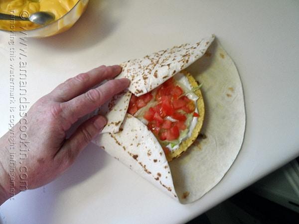Copycat Taco Bell Crunchwrap Supreme @amandaformaro Amanda's Cookin'