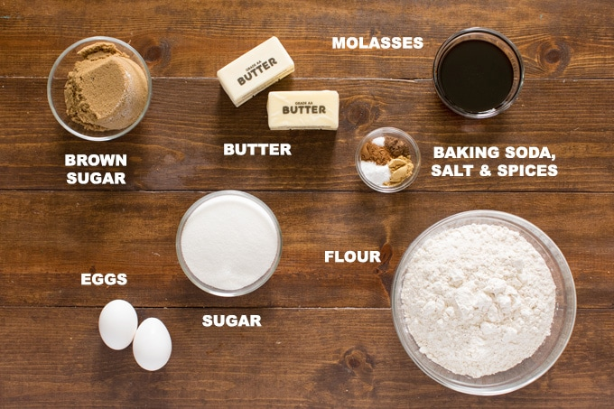 ingredients for gingersnap cookies