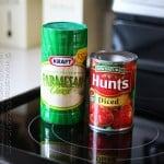 Hunt's Tomatoes and Kraft Parmesan Cheese @amandaformaro Amanda's Cookin'