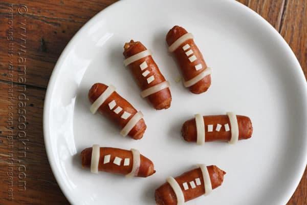 Lil' Smokies Footballs @amandaformaro Amanda's Cookin'