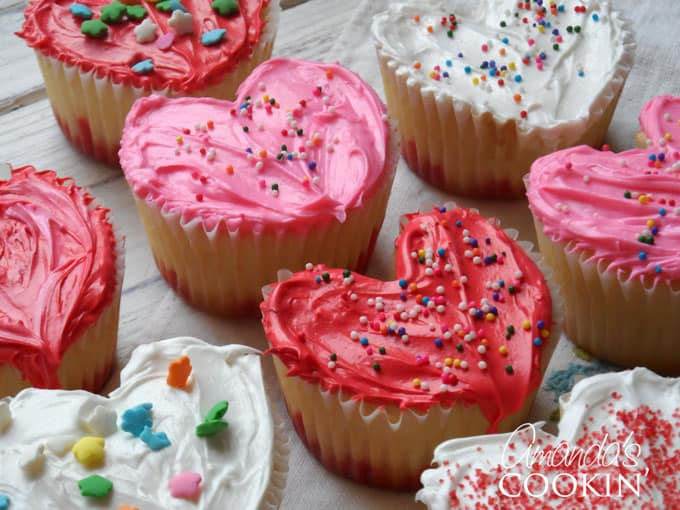 heart cupcakes for valentine's day