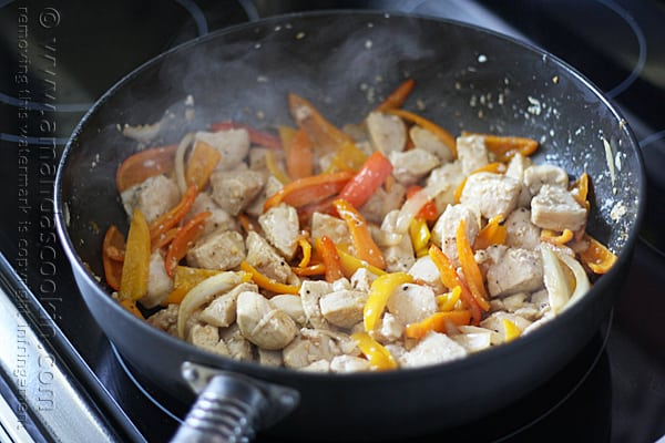 Chicken with Peppers and Pasta @amandaformaro Amanda's Cookin'