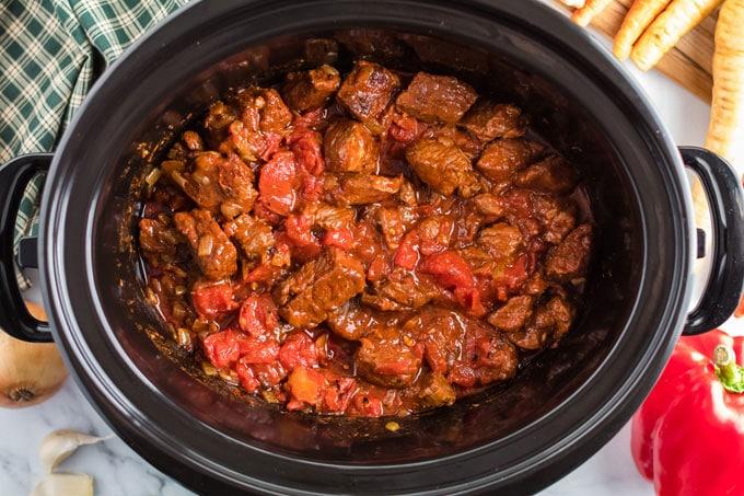 beef in crockpot