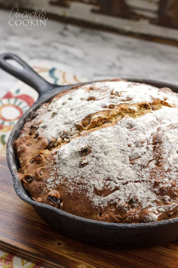 pan of Irish soda bread