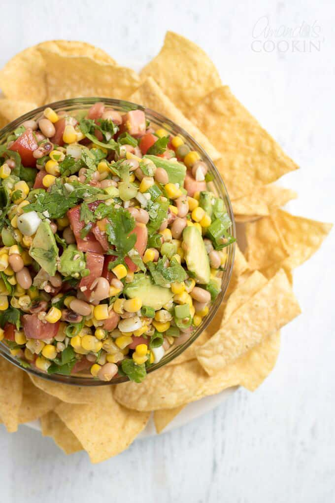 Cowboy Caviar makes a great game day or BBQ appetizer