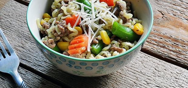 Ramen Noodle & Beef Skillet