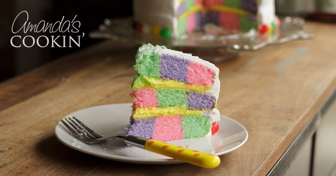 Checkerboard Cake The Perfect Colorful Cake For Easter