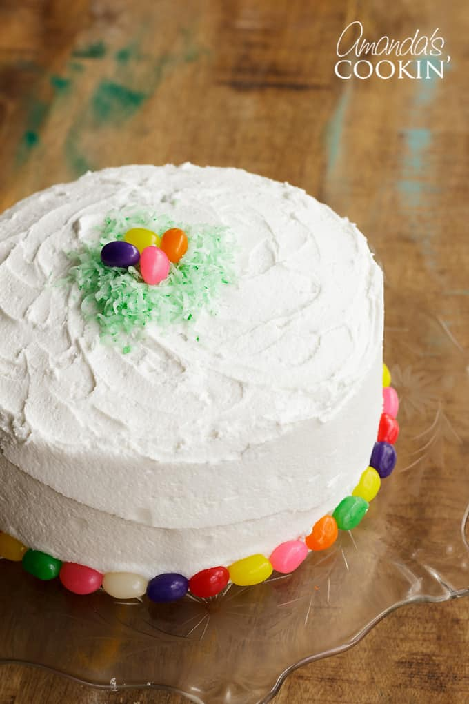 Delicious and soft checkerboard cake for Easter!