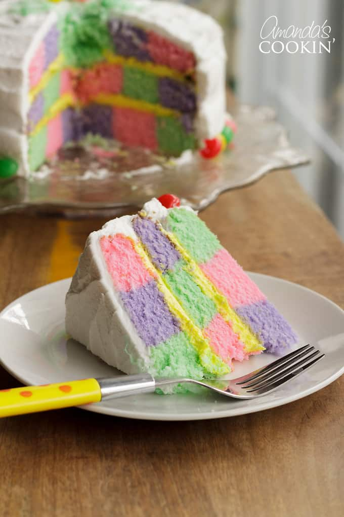 Checkerboard Cake for Easter!