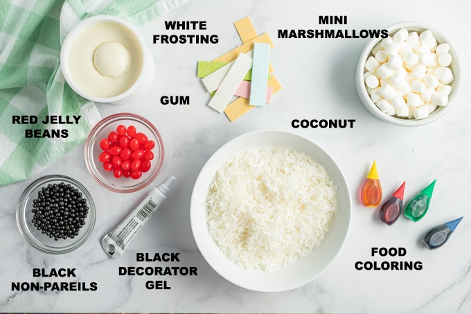 ingredients for bunny cupcakes