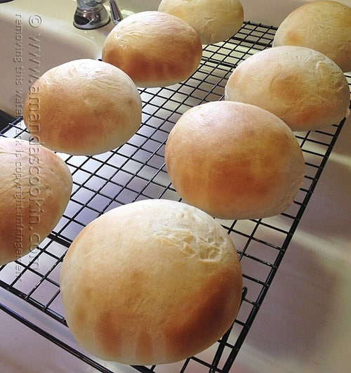 Recipe for Homemade Hamburger Buns - Amanda's Cookin' @aformaro