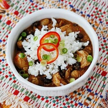 This 3 Bean Salsa Chicken for the crockpot is right up my alley!