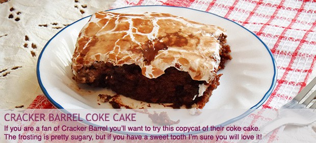 Cracker Barrel Copycat Coke Cake