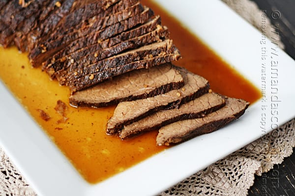 Oh.My.Gosh. This photo is making my mouth water! I'm pulling out the crockpot this weekend and making this roast!