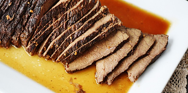 slow cooked beef -Slow Cooker Roast with Brandy Sauce