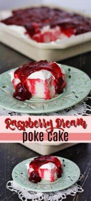 raspberry dream poke cake pin image