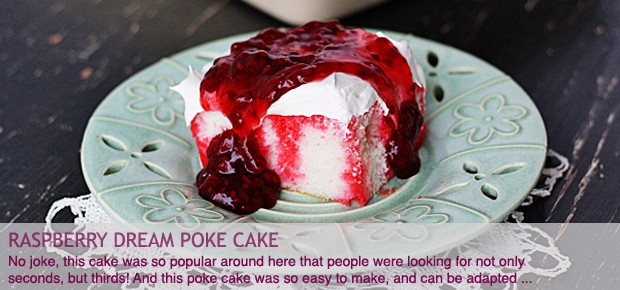 Raspberry Dream Poke Cake