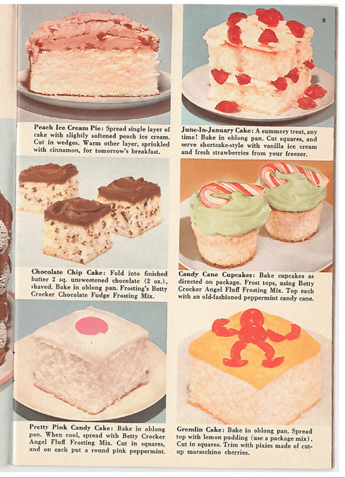 1957 Betty Crocker Cake Mix recipe booklet from Amanda's Cookin'