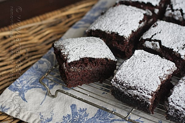 Vintage recipe for wacky cake or crazy cake, no eggs and no butter!