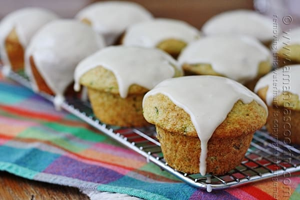These zucchini muffins look heavenly and so easy! Starts with a cake mix too, love it!