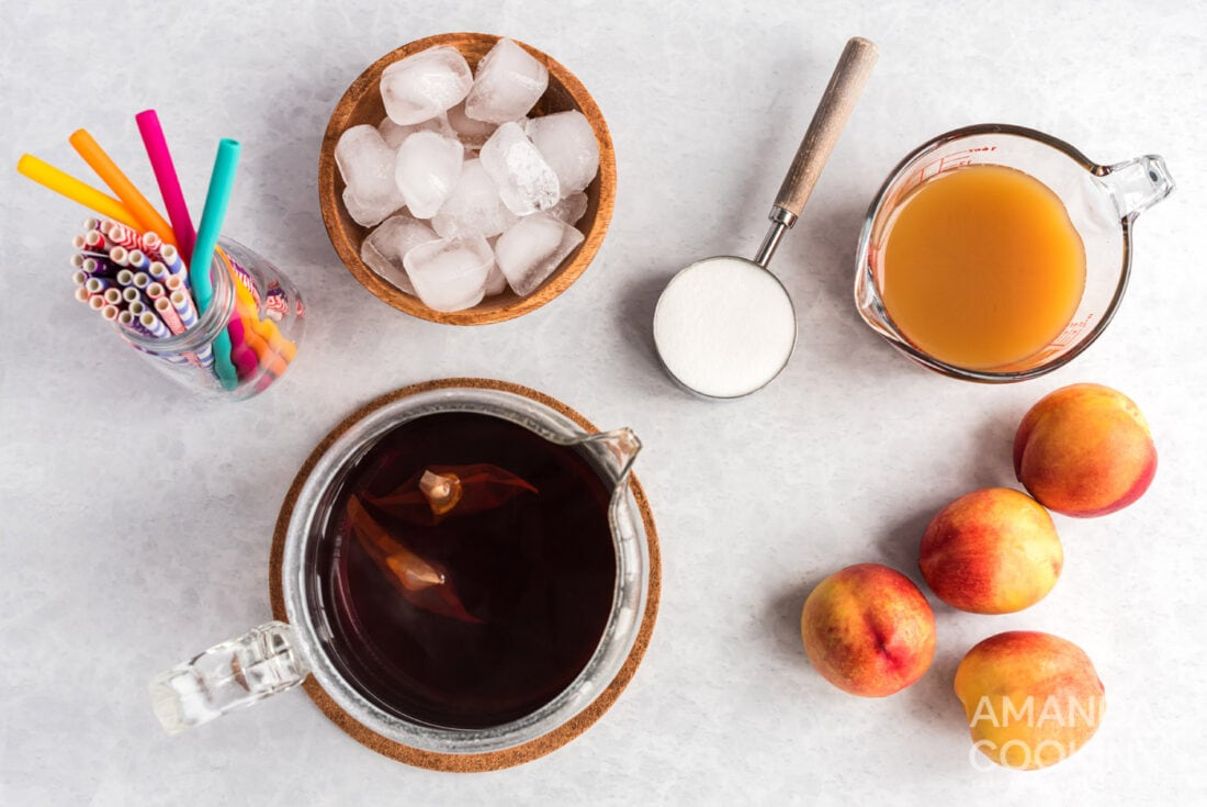 ingredients for olive garden peach tea