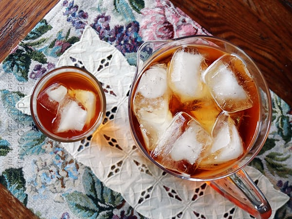 Olive Garden Peach Tea Copycat by Amanda Formaro of Amanda's Cookin'