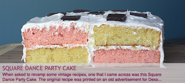 Vintage Recipe: Square Dance Party Cake
