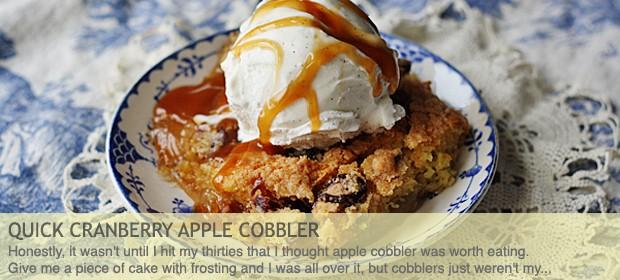 Quick Cranberry Apple Cobbler