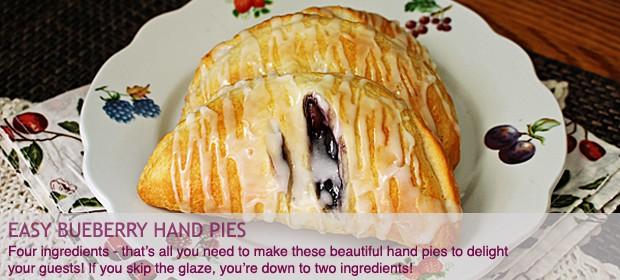 4 Ingredient Blueberry Hand Pies