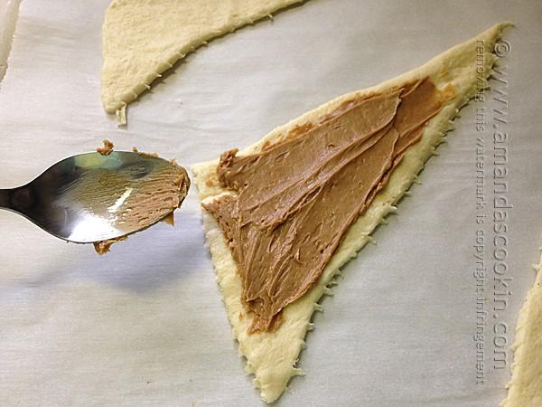2 Ingredient Pumpkin Peanut Butter Crescents