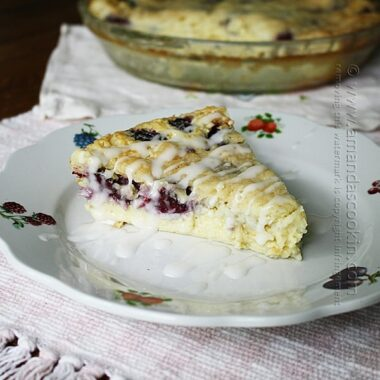 Blackberry Coconut Impossible Pie