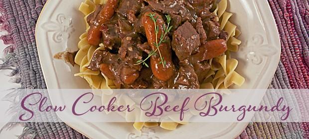 Beef Burgundy in the Crock Pot