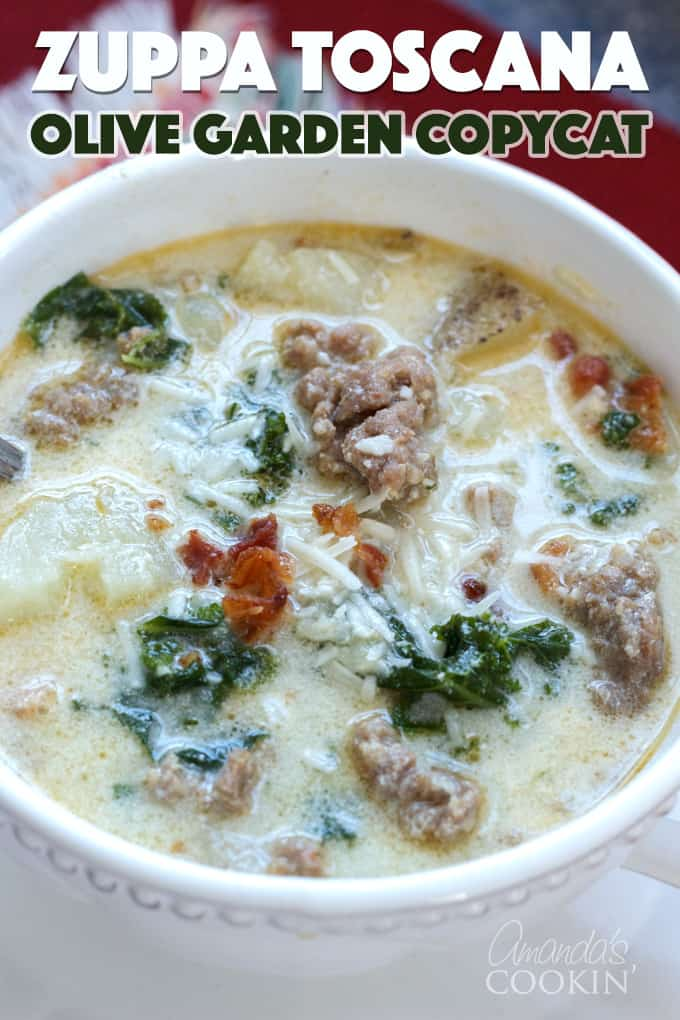 Zuppa toscana olive garden soup recipe with italian sausage for Toscana soup olive garden calories