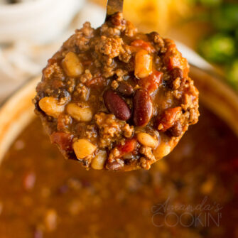 ladle of chili