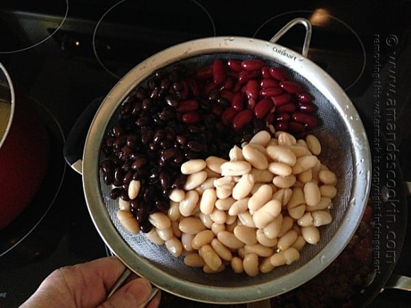 3 Bean Chili at Amanda's Cookin'