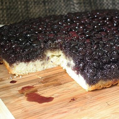 Blueberry Upside Down Cake from Amanda's Cookin'